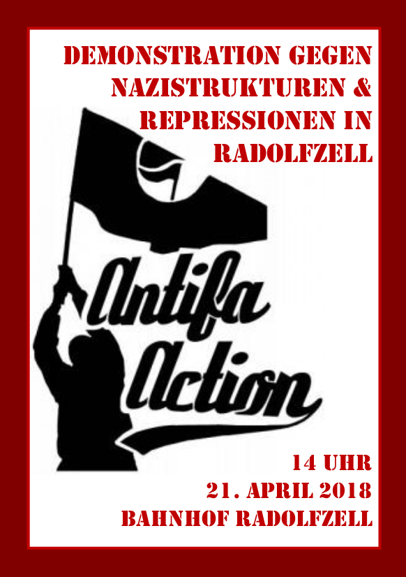 214 Antifa Demo Flyer Front